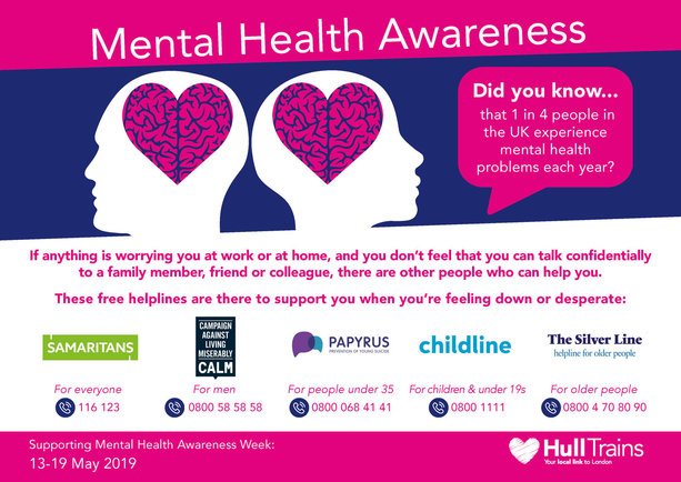 Hull Trains launches mental health campaign to support staff and customers