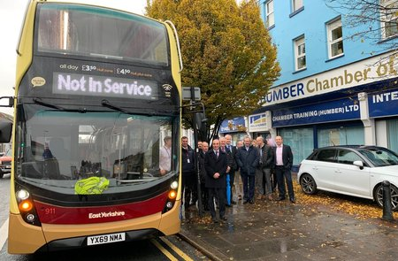 All aboard for Chamber's exclusive preview of East Yorkshire's new fleet of 'talking buses'
