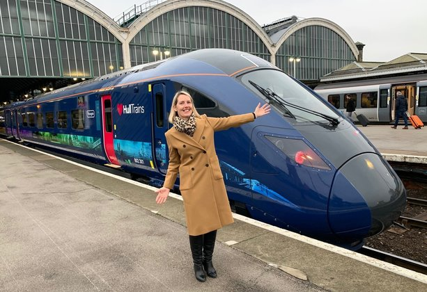 Big welcome as first of Hull Trains' new £60m Paragon fleet arrives in city