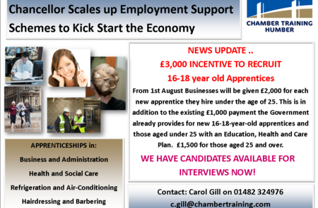 New £3,000 incentive for employers to take on an apprentice - we have candidates ready for interview now