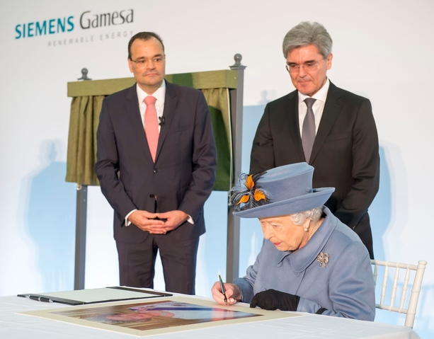 Siemens Gamesa Renewable Energy welcomes The Queen to Hull