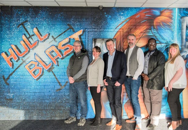 It's a blast as business team helps to launch Nerf centre