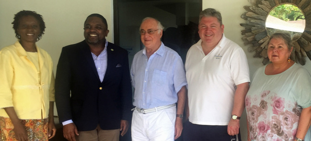 Talking trade, tourism and cricket over lunch in Caribbean