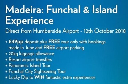 Madeira: Funchal and Islands Experience' Break to Launch from Humberside Airport