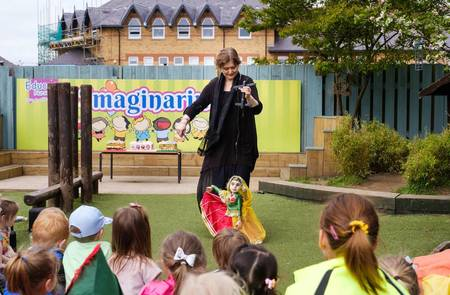Nursery children celebrate with Beverley Puppet Festival preview