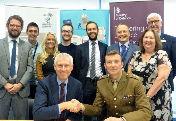 Wilkin Chapman pledges commitment to the Armed Forces community
