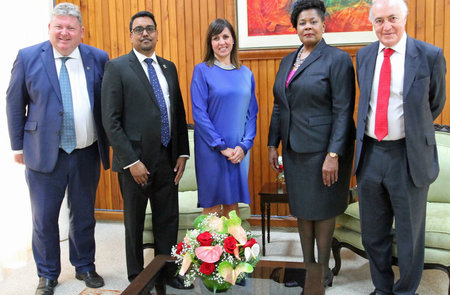 BCCC's Hon Patron Lord Howard meets Trinidad's President, appoints new Chair and Country Manager