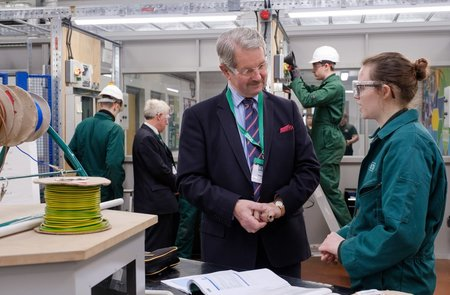 Industry leader urges apprentices to seize opportunities of new facility