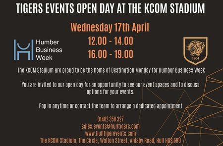 Tiger Events Open Day at KCOM Stadium Wednesday 17th April 2019