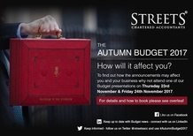 The Autumn Budget 2017 - A Free Presentation by Streets