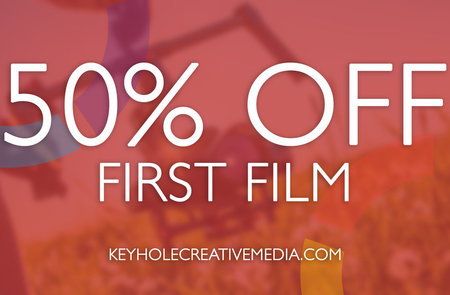 50% Off Your First Film With Keyhole Creative